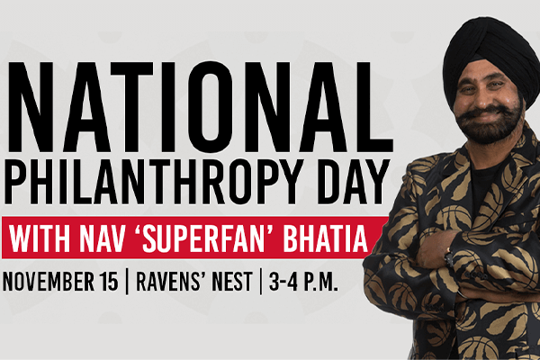 Photo for the news post: National Philanthropy Day with Nav 'Superfan' Bhatia